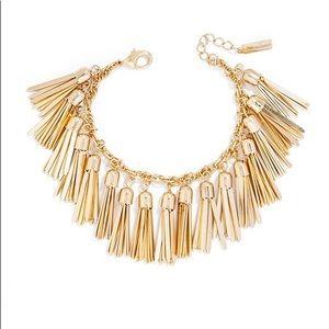 BaubleBar Gold Tassel Bracelet